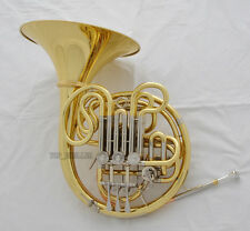 Professional Gold 103 Mode Double French Horn F/Bb Cupronicekl Tuning Pipe +Case