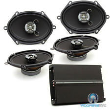 pkg FOCAL AUDITOR 2 Sets RIP-570C 5x7/6x8 SPEAKERS + R-4280 4-CHANNEL AMPLIFIER