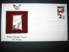 1984 WINTER OLYMPIC ICE HOCKEY 22kt Gold GOLDEN Cover Replica Stamp