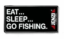 "JENZI Aufkleber ""EAT SLEEP GO FISHING"" 13cm X 6 cm  Angel Folie TOP"