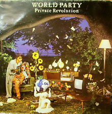 WORLD PARTY-PRIVATE REVOLUTION LP VINILO 1987 + INSERT SPAIN GOOD COVER