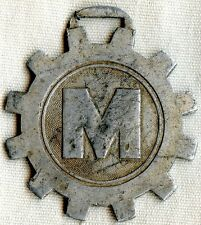 1930's Japanese Miyata Bicycle Co. Aluminum Advertising Watch Fob