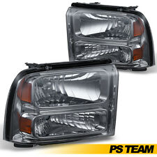 2005-2007 Ford F250 F350 F450 F550 Superduty 05 Excursion Smoke Lens Headlights