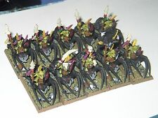 WARHAMMER-BATTLE FOR SKULL PASS-10 SPIDER RIDERS-PAINTED-PLASTIC