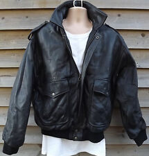 Ciro Citterio Vero Cuoio Black Leather A2 Flight / Pilot / Aviator Jacket - L