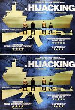 2 X A HIJACKING FILM POSTCARDS - TOBIAS LINDHOLME ( BORGEN )