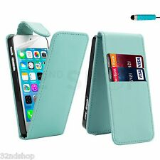 Abatible Cuero Estuche Cubierta Para APPLE IPHONE 4 4S Gratis Lápiz Óptico, Protector de pantalla,