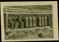 PHOTO WWII WW2 1940 BELGIQUE BELGIUM OBUS 75/105 mm SHELLS ARTILLERIE ARTILLERY