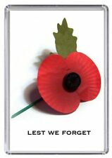 Lest we forget Remembrance Poppy Fridge Magnet 03