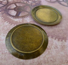 10 pcs - Antique bronze big Round Cabochon Resin base setting