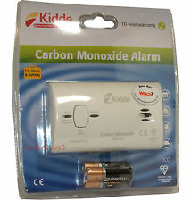 Kidde Carbon Monoxide Alarm + Batteries Gas Detector Alarm10 Year Life 7CO Kiddy