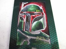 Star Wars Chrome Perspectives Jedi vs Sith sketch card /Boba Fett 1/1 S. Burch