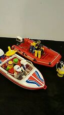 Vintage 1988 Playmobil Explorer Speed Boat With Impulse 175 Motor & more ++++
