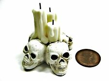 1:12 MINIATURE Dollhouse SKULL CANDLES 1/12 1 inch scale Gothic Doll House Goth