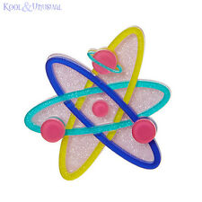 Dramatic UP AND ATOM Atomic Resin Brooch by Erstwilder * Science Fiction