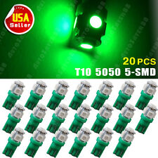 20X T10 Vivid Green LED 5SMD Wedge 5050 Light Bulb Lamps W5W 168 194 2825 192