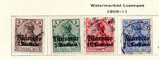 Germany - Selection from 1906-11 PO in Morocco set. Scott #33-36. USED