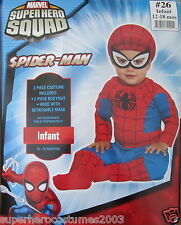 Superhero Squad Spider-Man Infant Costume Marvel Comics 12-18 Months # 26