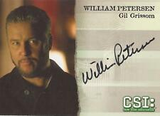 "CSI Series 3 A1 William Petersen ""Gil Grissom"" tarjeta autógrafo"
