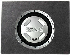 "Boss Chaos 12"" 1400 Watt Power Subwoofer 4 Ohm + 12"" Sealed Sub Box Enclosure"