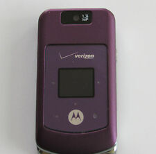 GOOD Verizon Motorola W755 PURPLE No Contract 3G 1.3MP Camera MP3 Flip Phone