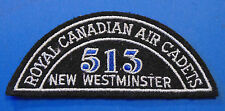 CANADA Royal Canadian Air Cadets NEW WESTMINSTER 513 squadron shoulder flash