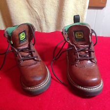 Boys 9 1/2 JOHN DEERE BROWN WORK BOOTS