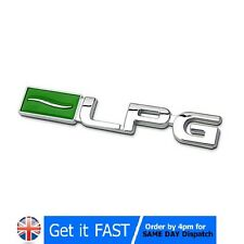 GPL AUTO GAS ECO ABS Chrome BADGE EMBLEMA Logo adesivo
