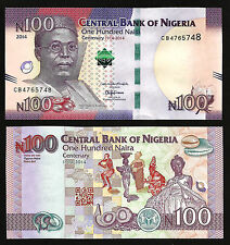 Nigeria 100 Naira 2014 Unc Comm. Centenary 1'St Banknote In The World Orc P.New