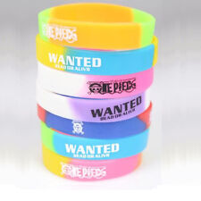 5X Fashion Unisex Wanted Wristband Silicone Bracelet Multi Color Personality Hot