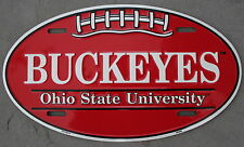 Ohio State University Buckeyes College Football Oval License Plate Dorm Sign