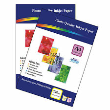 100 Sheets of A4 120gsm High Quality Glossy Photo Paper for Inkjet Printers