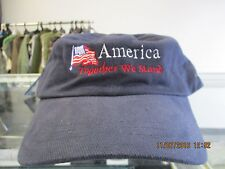 """COMMEMORATE-""""AMERICA TOGETHER WE STAND""""-WITH A DARK BLUE CAP-ADJ"""