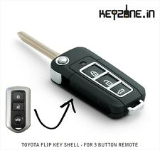 1-Key Aftermarket Flip Key Shell fit for Toyota Etios and Liva