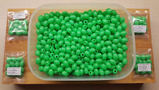 12 x 17mm-13mm Extra Large Oval Green Lumi Fishing Beads.Biggest listed on Ebay.