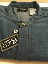 Gianni Versace Blue Shirt -Size XL