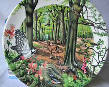 WEDGEWOOD PLATE THE BEECHWOOD 1988 BOXED LTD EDITION BY C NEWMAN