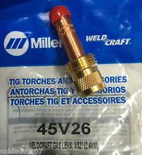 """Distribuidor 45V26 GasLens 3/32"""" para 2,4 mm WELDCRAFT  MILLER Torchas 17/18/26"""