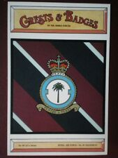 POSTCARD NO 30 SQUADRON  RAF CREST BADGE OF THE ARMED FORCES