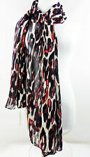 CALVIN KLEIN Scarf Rouge Poly Chiffon  Red Multi-Color    NWT $34