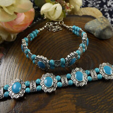 HOT Free shipping New Tibet silver multicolor jade turquoise bead bracelet S90B