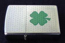Zippo Lighter Shamrock Logo w/ miniature shamrocks etching on the front