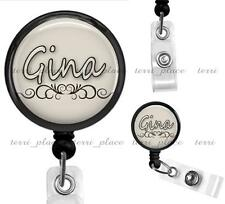 Custom Name Personalized Clip On Retractable Identification Badge Reel ID02