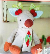 PATTERN - Mistletoe - cute wool felt reindeer softie/toy PATTERN - May Blossom