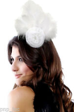 Flower Wedding Fascinator Hat Bow Fish Net Headband Formal Sunday Derby Easter