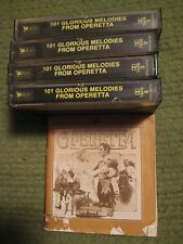 Lot of 4 Cassettes 101 GLORIOUS MELODIES FROM OPERETTA Readers Digest 1989