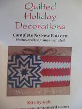 No- Sew Quilted Stars and Stripes Wall Hanging, Full-Color-Pattern