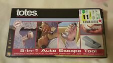 Auto Escape 5in1 Rescue Tool - Life Saving Glass Hammer Window Breaker