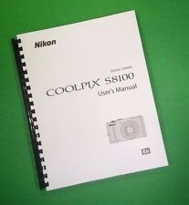 COLOR PRINTED Nikon Camera S9100 Manual, User Guide 236 Pages FREE SHIPPING
