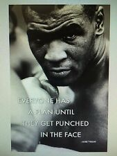 MIKE TYSON QUOTE 24x36 poster BOXING ATHLETE GREATEST ICON LEGEND HEAVYWEIGHT!!!